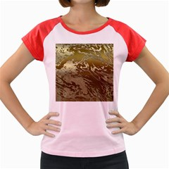 Metal Art Swirl Golden Women s Cap Sleeve T-Shirt