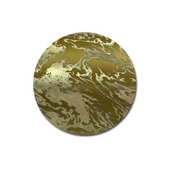 Metal Art Swirl Golden Magnet 3  (round)