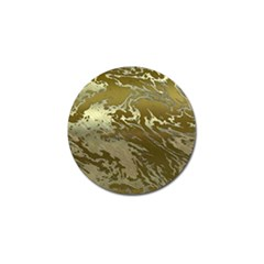 Metal Art Swirl Golden Golf Ball Marker (4 Pack)