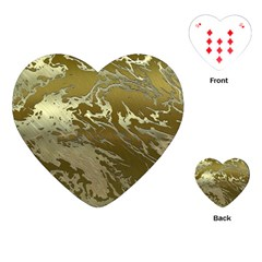 Metal Art Swirl Golden Playing Cards (Heart)