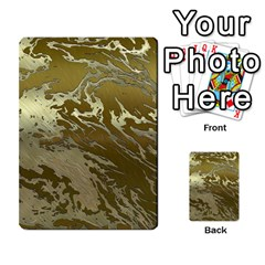 Metal Art Swirl Golden Multi-purpose Cards (Rectangle)
