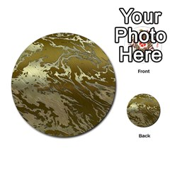 Metal Art Swirl Golden Multi-purpose Cards (Round)