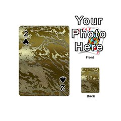 Metal Art Swirl Golden Playing Cards 54 (mini)