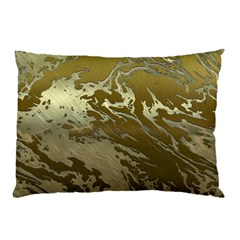 Metal Art Swirl Golden Pillow Cases (Two Sides)