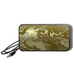 Metal Art Swirl Golden Portable Speaker (Black)