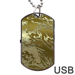 Metal Art Swirl Golden Dog Tag USB Flash (Two Sides)