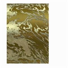 Metal Art Swirl Golden Large Garden Flag (Two Sides)
