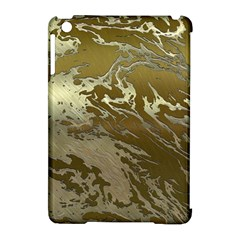 Metal Art Swirl Golden Apple Ipad Mini Hardshell Case (compatible With Smart Cover)