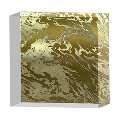 Metal Art Swirl Golden 5  x 5  Acrylic Photo Blocks