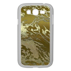 Metal Art Swirl Golden Samsung Galaxy Grand Duos I9082 Case (white)