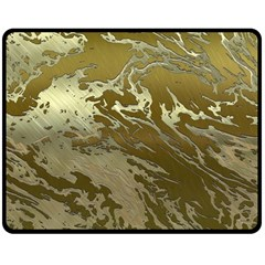 Metal Art Swirl Golden Double Sided Fleece Blanket (Medium)