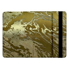 Metal Art Swirl Golden Samsung Galaxy Tab Pro 12 2  Flip Case
