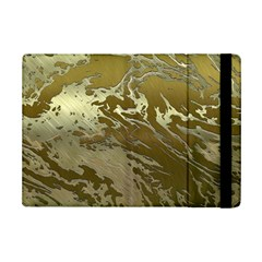 Metal Art Swirl Golden Ipad Mini 2 Flip Cases