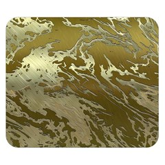 Metal Art Swirl Golden Double Sided Flano Blanket (Small)