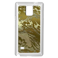 Metal Art Swirl Golden Samsung Galaxy Note 4 Case (white)