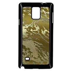 Metal Art Swirl Golden Samsung Galaxy Note 4 Case (Black)