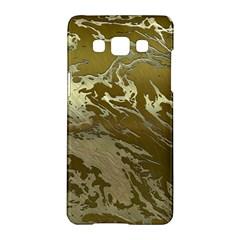 Metal Art Swirl Golden Samsung Galaxy A5 Hardshell Case