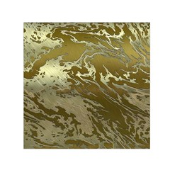 Metal Art Swirl Golden Small Satin Scarf (Square)
