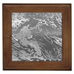 Metal Art Swirl Silver Framed Tiles