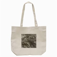 Metal Art Swirl Silver Tote Bag (cream)