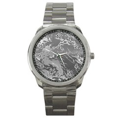 Metal Art Swirl Silver Sport Metal Watches