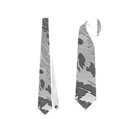 Metal Art Swirl Silver Neckties (One Side)