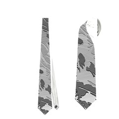 Metal Art Swirl Silver Neckties (Two Side)