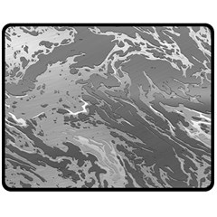 Metal Art Swirl Silver Fleece Blanket (medium)