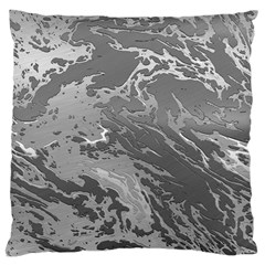 Metal Art Swirl Silver Large Flano Cushion Cases (two Sides)