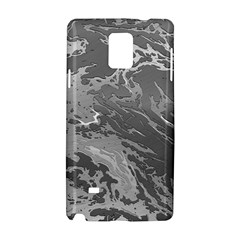 Metal Art Swirl Silver Samsung Galaxy Note 4 Hardshell Case