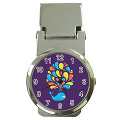 Colorful Happy Whale Money Clip Watches