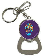 Colorful Happy Whale Bottle Opener Key Chains