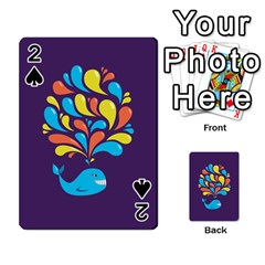 Colorful Happy Whale Playing Cards 54 Designs