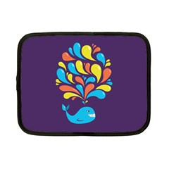 Colorful Happy Whale Netbook Case (small)