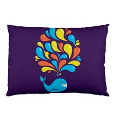 Colorful Happy Whale Pillow Cases