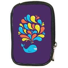 Colorful Happy Whale Compact Camera Cases