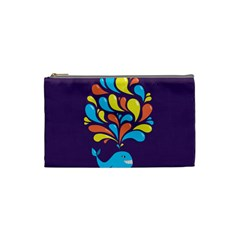 Colorful Happy Whale Cosmetic Bag (small)