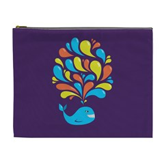 Colorful Happy Whale Cosmetic Bag (XL)