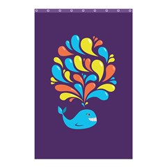 Colorful Happy Whale Shower Curtain 48  x 72  (Small)