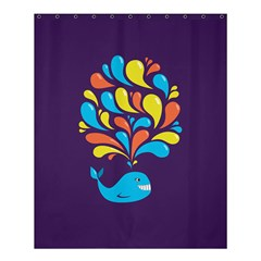 Colorful Happy Whale Shower Curtain 60  X 72  (medium)