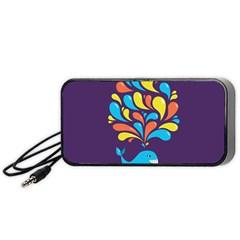 Colorful Happy Whale Portable Speaker (Black)