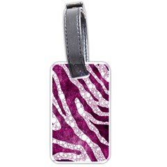 Purple Zebra Print Bling Pattern  Luggage Tags (two Sides)