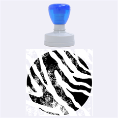 Purple Zebra Print Bling Pattern  Rubber Round Stamps (large)