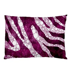 Purple Zebra Print Bling Pattern  Pillow Cases (two Sides)