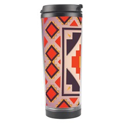 Rustic Abstract Design Travel Tumbler