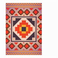 Rustic abstract design Small Garden Flag