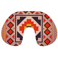Rustic Abstract Design Travel Neck Pillow