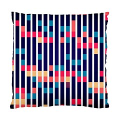 Stripes And Rectangles Pattern Standard Cushion Case (two Sides)