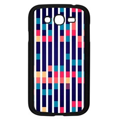 Stripes And Rectangles Pattern Samsung Galaxy Grand Duos I9082 Case (black)