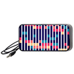 Stripes And Rectangles Pattern Portable Speaker